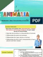CHAPTER 7 - Animalia (Part 1) - Student