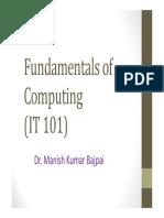 Algo Anf Fundamentals of C