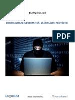 Criminalitate Informatica. Sanctiuni Si Protectie