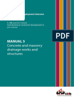 Manual 5 - Concrete and Masonry Drainage Works and Structures