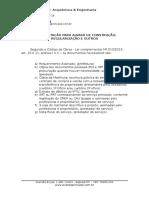 Documentação Necessária Aprovação Prefeitura