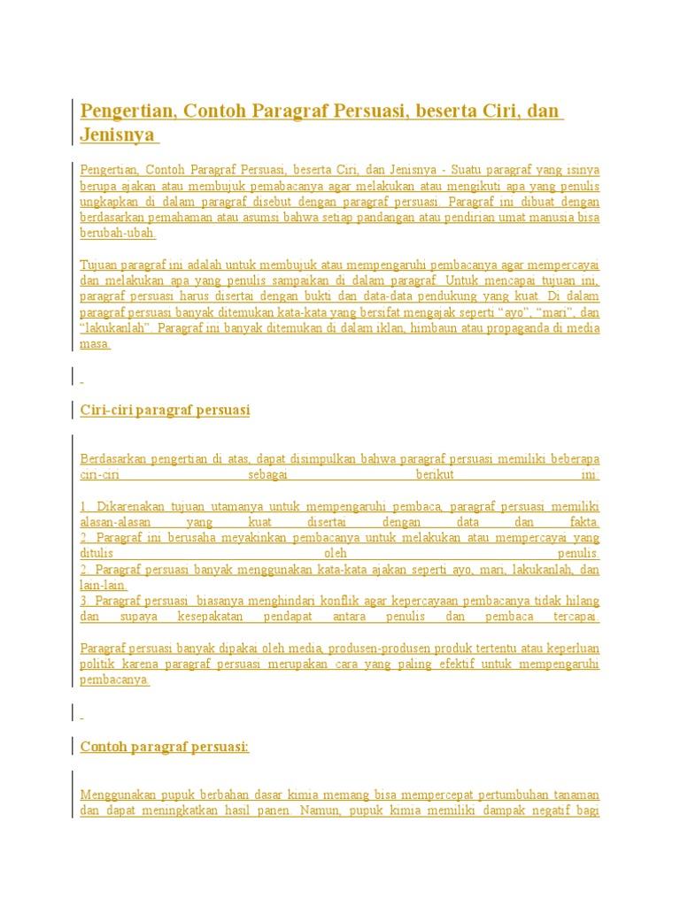 Contoh Teks Persuasi 4 Paragraf Beserta Strukturnya ...