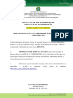 Edital Nº 170 - PROEX - Processo de Seleção Para Orientador, Supervisor e Apoio Administrativo - PRONATEC-IfRO - PRORROGAÇÃO
