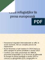 Criza Refugiaților În Presa Europeană