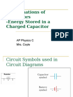 2 Combinations of Capacitors, Energy of Capacitors