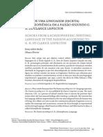 ECOS DE UMA LINGUAGEM (ESCRITA) ESQUIZOFRÊNICA EM A PAIXÃO SEGUNDO G. H. DE CLARICE LISPECTOR