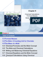 Chapter6-Chemical Calculations Formula Masses-moles-chemical Equations