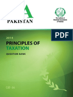 Principles of Taxation Question Bank ICAP
