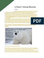 9 Contoh Text Report Tentang Binatang