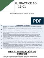 Global Practice. 16-13-01. Pruebas e Instalación de Equipos Electricos