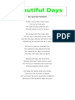 Beautiful Days Poem