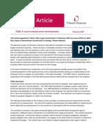 FIDIC & Recent Infrastructure Developments - BOT