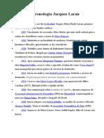Cronologia Jacques Lacan