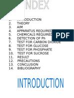 Chemistry Project Class XII Chemistry