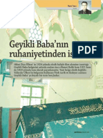 Geyikli Baba'nın Ruhaniyetinden İsti'zar; Niyazi Topçu