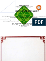 5th Year Certificates