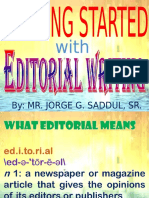 Getting Started With Editorial Writing