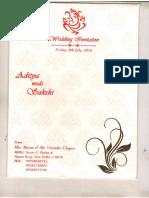 Wedding Invitation - Aditya