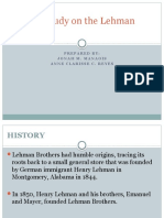 A Case Study on the Lehman Brothers