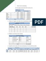 Ejercicio en Excel