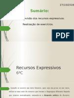 Recursos Expressivos