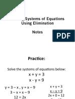 elimination notes