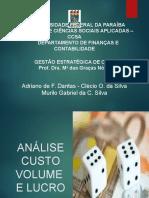 Gestão e. de Custos - Seminário - Analise de Custo, Volume e Lucro