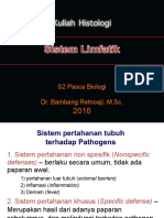 Histologi S2 Materi 3-Sistem Limfatik S2 Ringkas
