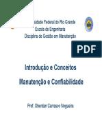 Cap. 1 - Introducao e Conceitos - Manutencao