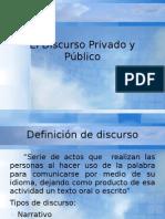 El Discurso Privado y Público