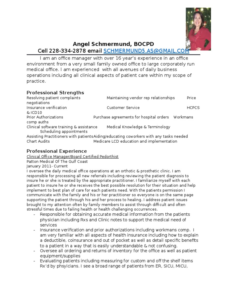 Angel Resume Patient Physician