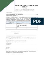 Anexo 5 - Notificacion Al Representante Legal Sobre Los Días de Asistencia de Los Estudiantes a REFUERZO ACADEMICO