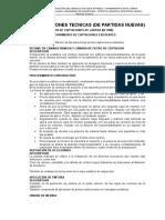 Especificacion Tecnicas Partidas Nuevas Humahuañapampa