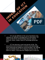 Impact of Ict in Education