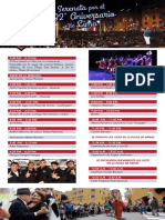 Programa de serenata por 482 Aniversario de Lima