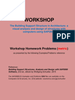 Workshop Homework Problems (metric) based on SAP2000.pdf by Wolfgang Schueller
