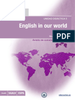English in Our World_unidad Didactica Nº 5