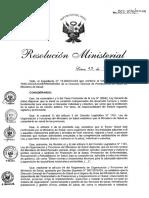 RM N° 502-2016-MINSA Auditoria