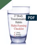 27 Habits Checklist Short