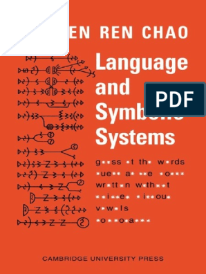 Language and Symbolic Systems - Yuen Ren Chao.pdf | Phoneme ... on