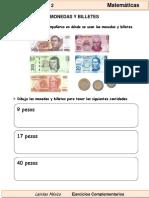 1er Grado - Matemáticas - Monedas y Billetes