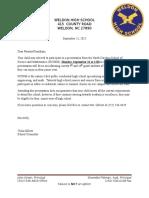 Ncssm Letter