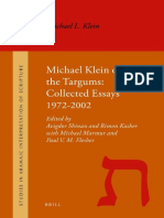 SAIS 011 Shinan, Kasher, Marmur, Flesher [Eds.] - Michael Klein on the Targums_Collected Essays 1972–2002 - 2011.pdf