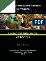 Encontro sobre Animais Selvagens III Simpósio sobre Medicina e Conservação da Fauna do Cerrado