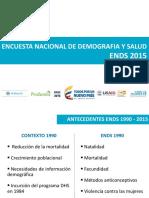 Encuesta Nacional de Demografïa y Salud 2015 Colombia