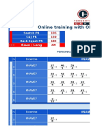1) TOROKHTIY Online Training (11 - 17 Jan 2016)