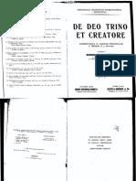 De Deo Trino Et Creatore - Garrigou-Lagrange, Reginald, O.P