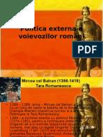 Politica Externa a Voievozilor Romani