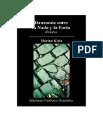 Danzando Entre La Nada y La Furia (relatos) Autora