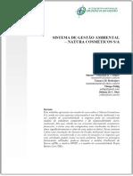 ⭐SISTEMA DE GESTÃO AMBIENTAL NATURA COSMÉTICOS S_A